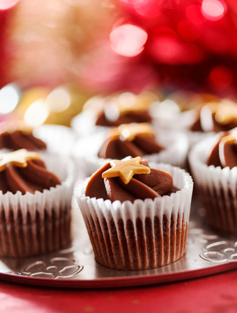 appetising: Christmas cupcakes Stock Photo