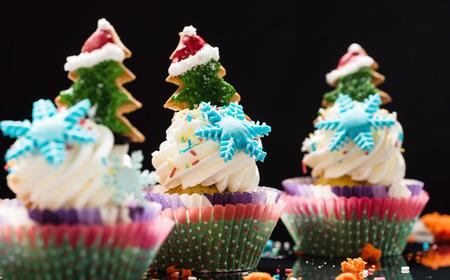 Christmas cupcakes 版權商用圖片 - 128519505