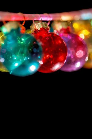 Colorful Christmas balls 版權商用圖片 - 128519510