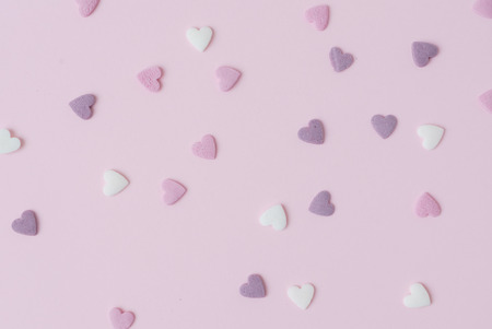 confectionery: sugar hearts Stock Photo