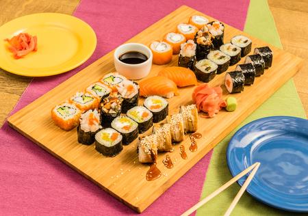 epicurean: tasty sushi Stock Photo
