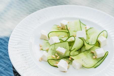 fresh salad with cucumber