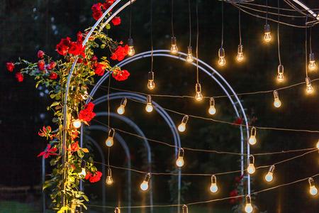 decoración de bodas  Foto de archivo