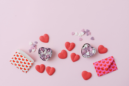 sugar hearts Stock Photo