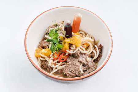 noodle with beef Stock Photo