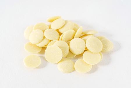 ganache: white chocolate drops Stock Photo