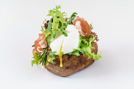 rocket lettuce: baked potato