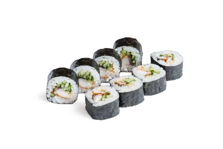sushi isolated on the white Stock Photo