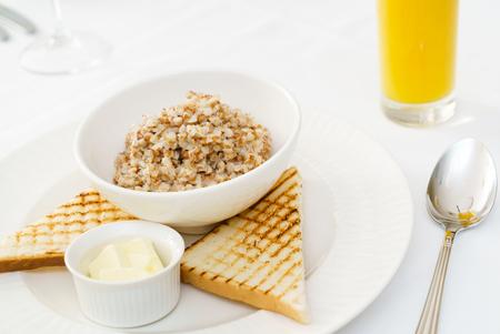 heathy: buckwheat porridge Stock Photo
