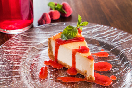 cheesecakes with berries Stock Photo