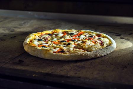baked pizza Stock Photo