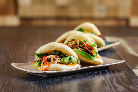 Taiwans traditional food - Gua Bao Banco de Imagens
