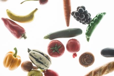 vegetables on the white