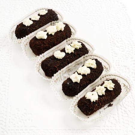 chocoladegebak Stockfoto
