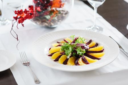 Barbabietola e insalata di Napoleone arancione Archivio Fotografico - 78781118