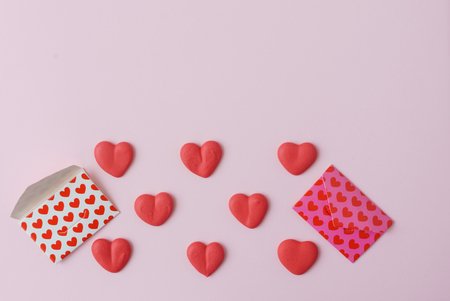 valentines day mother s: sugar hearts Stock Photo