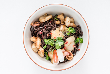 seafood noodle Stock Photo