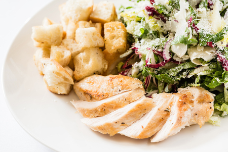 chicken breast with salad Stock Photo