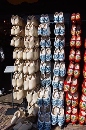 clogs for sale at a Dutch shop Фото со стока