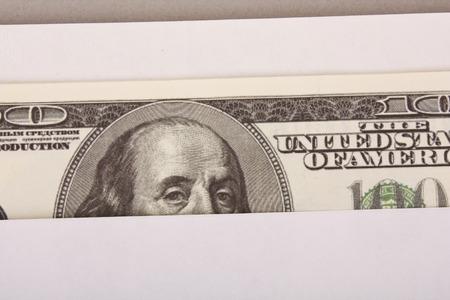 dollars in the envelope Stock Photo