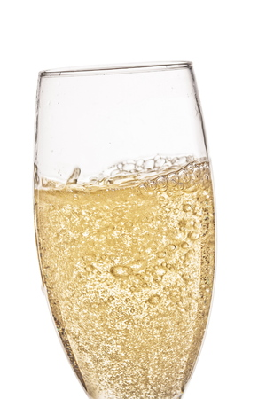 Een glas champagne