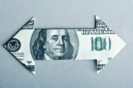 Dollar bill flèche Banque d'images - 80059446