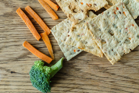 crackers with carrot