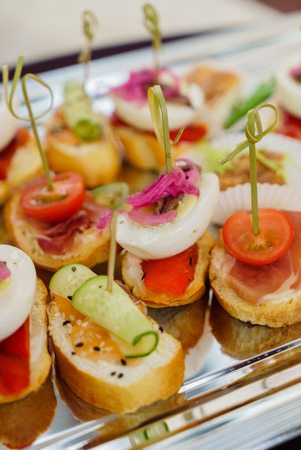 openluchtcatering Stockfoto