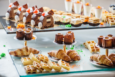 pastries on the branch table Stock Photo