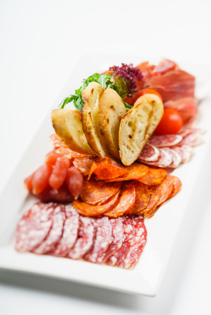 turkey bacon: meat appetizer