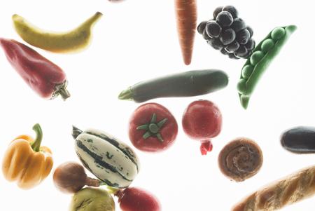 groenten op de witte Stockfoto