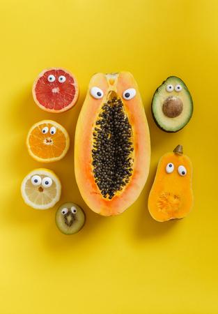 재미있는 과일과 야채