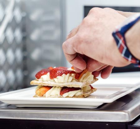 mascarpone: chef making dessert