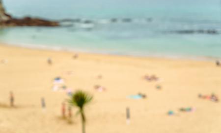 blurred photo of beach Фото со стока
