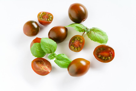 cherry tomatoes with basil