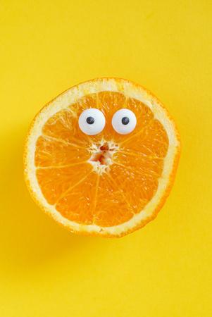 grappig oranje