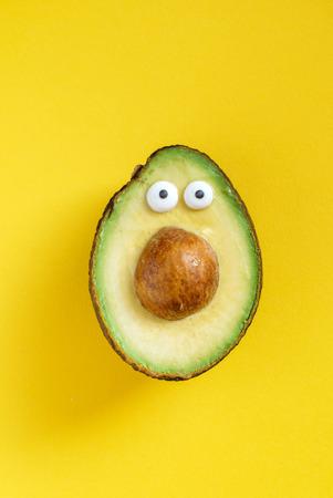 Grappige avocado Stockfoto