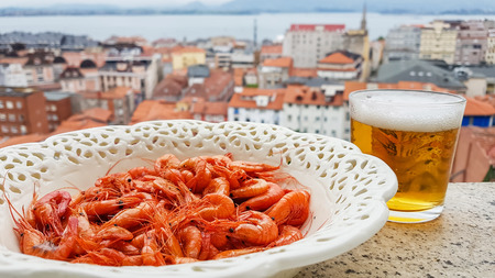 shrimps with beer