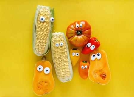 面白い野菜 写真素材
