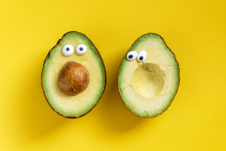 Lustige avocado Standard-Bild - 81444358