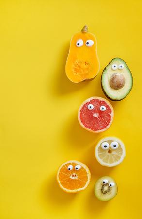 面白い果物と野菜