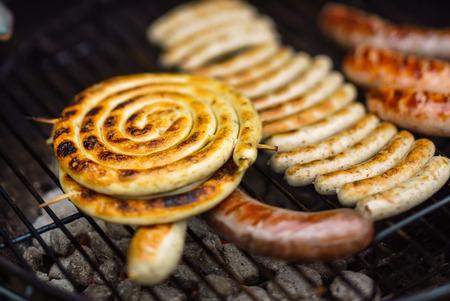 saucisses grillées Banque d'images