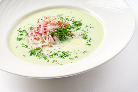 green cold soup