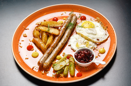 english breakfast 版權商用圖片