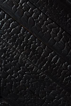 黒焦げた木のテクスチャ