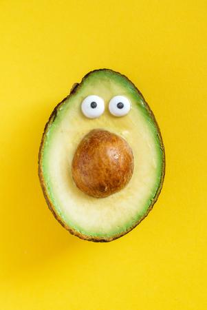 funny avocado Stok Fotoğraf