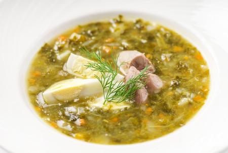 卵と肉のスープ