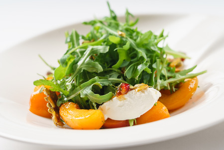 salad with apricots