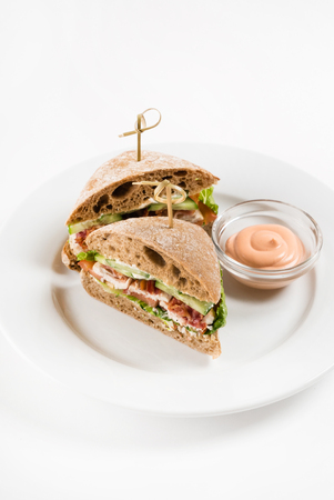 sandwich with sauce Stock Photo