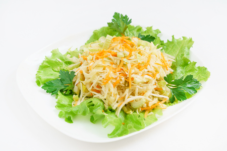 salad with cabbage, celery and carrot Stock fotó